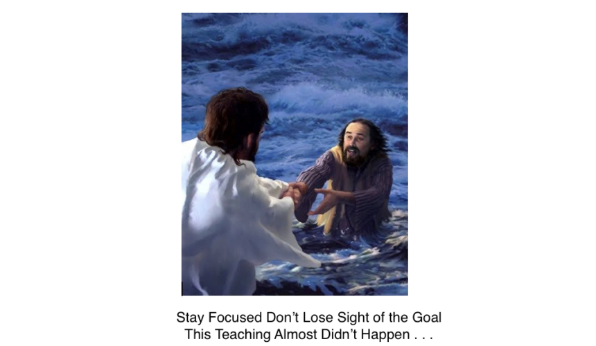Stay Focused- Don't loose sight of the Goal